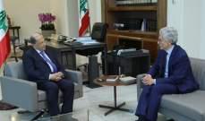 الرئيس عون عرض مع داليما لسبل تطوير العلاقات اللبنانية- الإيطالية
