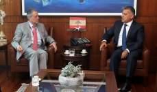 اللواء ابراهيم بحث مع السفير السوري الأوضاع العامة