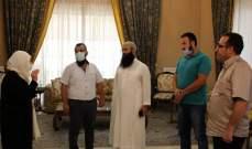 """الحريري عرضت مع """"لجنة أهالي معتقلي أحداث عبرا"""" موضوع قانون العفو"""
