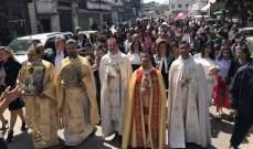 المطران خيرالله ترأس قداس الشعانين في كاتدرائية مار اسطفان بالبترون