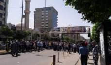 الجديد: محتجون يعتصمون امام سراي طرابلس وسط تدابير امنيه مشددة