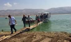 المصلحة الوطنية لنهر الليطاني تطلق مشروع المنصات العائمة في بحيرة القرعون