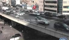 تصادم بين مركبتين على جسر الدورة باتجاه الكرنتينا