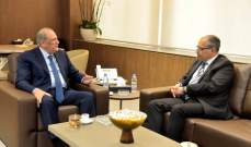 الجراح استقبل سفير مصر مودعا