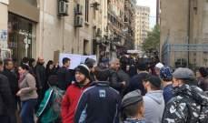 أهالي الموقوفين الاسلاميين يقطعون الطريق المؤدي الى ساحة النور بطرابلس