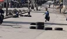 التحكم المروري: قطع السير محلة ساحة النور طرابلس بالاتجاهين