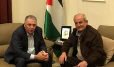 السفير الفلسطيني التقى نائب الامين العام لجبهة التحرير الفلسطينية