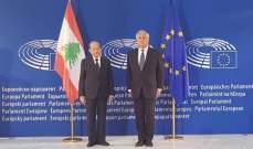 إجتماع موسع بين الجانبين اللبناني والاوروبي في مقر البرلمان الاوروبي