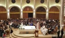 بدء القداس الالهي في الذكرى الشهرية لشفاء نهاد الشامي