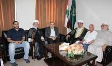 البزري بحث والمفتي سوسان أوضاع صيدا والتعديات على المسجد الأقصى