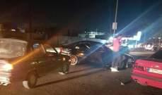 النشرة: جريح نتيجة حادث سير بين سيارة وشاحنة على طريق عام الحاصباني