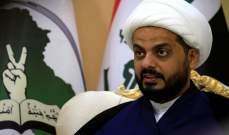 الخزعلي دعا لإجراء التعديلات دستورية وتغيير النظام البرلماني في العراق