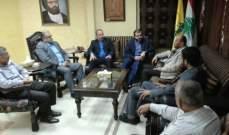 حزب الله التقى وفدا قياديا من حركة حماس في صيدا