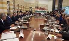 الرئيس عون: سنعمل معاً على إقرار خطة تؤمن استقراراً اقتصادياً بموازاة الاستقرار الامني والسياسي الذي تنعم به البلاد