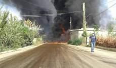 السيطرة على حريق أنابيب النفط في سهل عكار