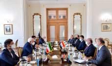 وزيرا خارجية العراق وإيران بحثا بالوضع الإقليمي والدولي وانعكاساته على المصالح المشتركة