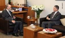 جعجع بحث مع سفير الصين آخر التطورات السياسية والإقتصادية