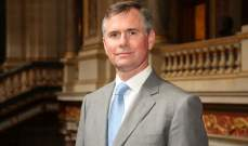 سفير بريطانيا بحث مع باسيل المؤتمرات الدولية لدعم استقرار لبنان