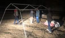 المعتصمون نصبوا خيما في مرج بسري داعين اللبنانيين للإنضمام اليهم