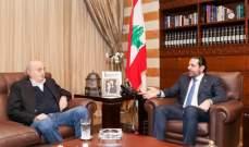 مصادر الحياة: الحريري أبلغ من يلزم أنه لن يسير بأي اقتراح لا يوافق عليه جنبلاط