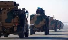 الجيش التركي أرسل تعزيزات عسكرية كبيرة إلى نقاط المراقبة في إدلب بسوريا