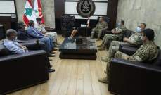 قائد الجيش إلتقى الخازن والقائم بأعمال السفارة الأردنية