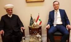 دريان استقبل سفير لبنان الجديد بالسعودية ورئيس بلدية مكسه ووسام عاشور