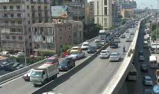 تعطل سيارة على جسر الكولا باتجاه نفق سليم سلام وحركة المرور كثيفة في المحلة