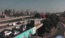 جريحان نتيجة تصادم بين 4 مركبات على اوتوستراد إميل لحود