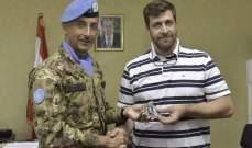 قائد القطاع الغربي لليونيفيل زار بلدة راميه في قضاء بنت جبيل والتقى رئيس البلدية