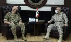 قائد الجيش عرض مع الملحق العسكري السعودي علاقات التعاون بين الجيشين