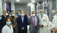 سنان ممثلا حسن بافتتاح قسم كورونا بمستشفى دلاعة بصيدا: المستشفيات وصلت لحد الخطر