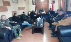 """اللواء أبو عرب التقى وفدا من """"عصبة الأنصار"""""""