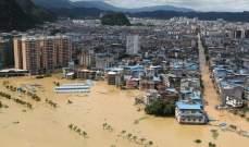 السلطات الصينية: إنقاذ أكثر من 1900 شخص علقوا بمنازلهم نتيجة هطول الأمطار جنوب البلاد