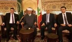 المفتي دريان استقبل نور الدين عساف وعفيف كشلي وعلي الصمد