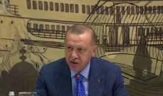 اردوغان: لا تفاوض مع الإرهابيين ونرفض الوساطة ولن نسمح بإقامة دويلة إرهابية شمالي سوريا