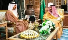ملك السعودية ووزير خارجية الإمارات استعرضا العلاقات الوثيقة بين البلدين