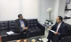 بطيش التقى سفير الهند وعرض معه سبل تفعيل العلاقات الاقتصادية