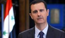 الأسد لبري: اقدر لكم عواطفكم الصادقة في رؤية سوريا وهي تنعم بالامن