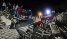 وقوع 20 جريحا نتيجة إشكال وتضارب بالأيدي والكراسي في صالة أعراس ببلدة الهيشة