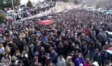 مسيرة للقربان المقدس بدير مار مارون عنايا يشارك فيها حشد من المؤمنين