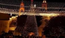 مدينة بيت لحم احتفلت بالميلاد بحضور الاف المسيحيين والسياح الاجانب