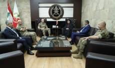 قائد الجيش التقى عبد الساتر موفدا من الراعي لتأكيد دعم بكركي للجيش ووقوفها إلى جانبه