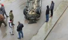 النشرة: اربعة جرحى في حادث سير مروع في الغازية
