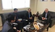 المرعبي استقبل سفير اندونيسيا: الحل لأزمة النازحين السوريين بوقف الحرب