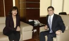 قيومجيان التقى ريتشارد ووفدا المانيا وآخر من البنك الدولي وتناول البحث دعم عمل الوزارة