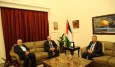 دبور وابو العردات وفصائل منطمة التحرير التقوا سفير روسيا في لبنان