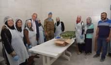 قائد القطاع الغربي لليونيفيل التقى سيدات التعاونية الزراعية النسائية في جناتا- صور