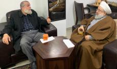 الشيخ حمود استقبل وفدا من حركة الجهاد الإسلامي في فلسطين