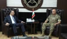 قائد الجيش بحث مع درويش بالأوضاع العامة في البلاد والتقى محافظ الجنوب